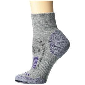 メレル メンズ 靴下 アンダーウェア Merino Wool Cushioned Hiker Quarter Socks 1-Pair Purple/Grey Heather
