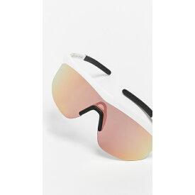 イレステバ レディース サングラス&アイウェア アクセサリー Managua Sporty Shield Sunglasses White with Rose Gold Mirror