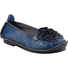 スプリングステップ レディース スニーカー シューズ Dezi Slip-On Navy Leather