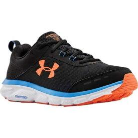 アンダーアーマー メンズ スニーカー シューズ Charged Assert 8 Running Sneaker Black/White/Orange Spark