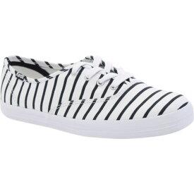 ケッズ レディース スニーカー シューズ Champion Breton Stripe Sneaker White/Navy Multi Stripe Canvas
