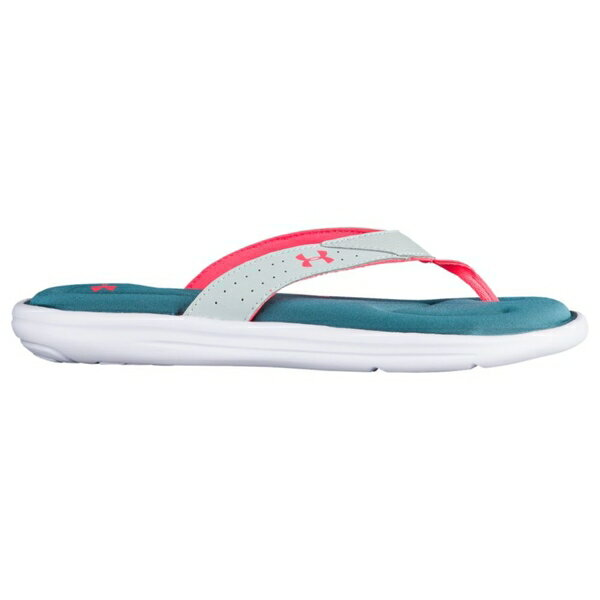 アンダーアーマー レディース サンダル シューズ Women's Under Armour Marbella V Thong Marlin Blue/Mineral Grey/Siren Coral