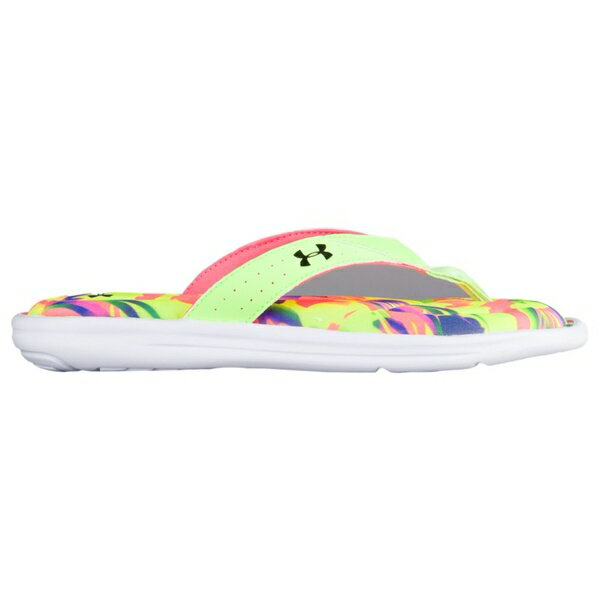 アンダーアーマー レディース サンダル シューズ Women's Under Armour Marbella V Thong Lime Light/Brilliance/White