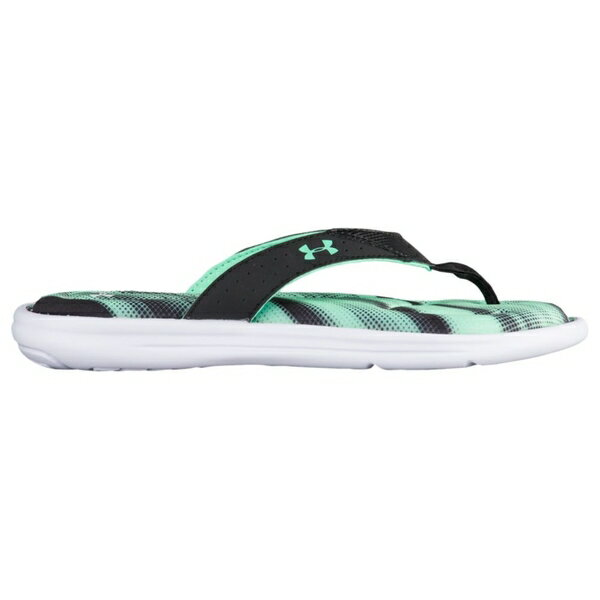 アンダーアーマー レディース サンダル シューズ Women's Under Armour Marbella V Thong White/Black/Vapor Green