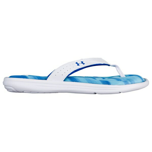 アンダーアーマー レディース サンダル シューズ Women's Under Armour Marbella V Thong White/Island Blue/Team Royal