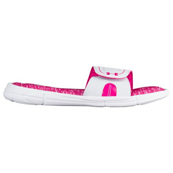 アンダーアーマー レディース サンダル シューズ Women's Under Armour Ignite VII Slide White/Tropic Pink
