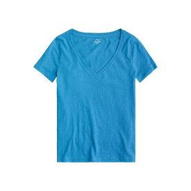 ジェイクルー レディース シャツ トップス Vintage Cotton V-Neck T-Shirt Prussian Blue