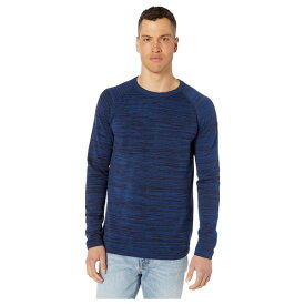 ジースター メンズ ニット&セーター アウター Core Straight Round Neck Long Sleeve Knit Sartho Blue/Pacific