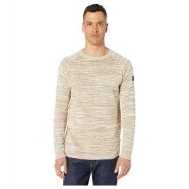ジースター メンズ ニット&セーター アウター Core Straight Round Neck Long Sleeve Knit Sahara/Ivory