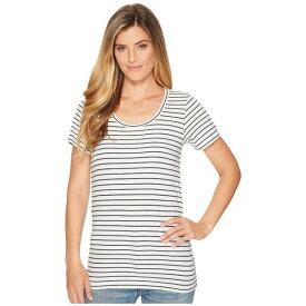 ペンドルトン レディース シャツ トップス Short Sleeve Pima Stripe Tee Marshmallow/Parisian Nights Stripe