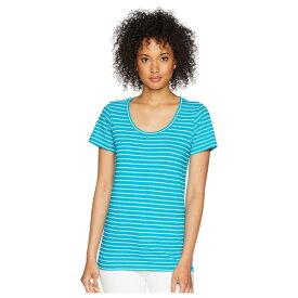 ペンドルトン レディース シャツ トップス Short Sleeve Pima Stripe Tee Enamel Blue/Marshmallow Stripe