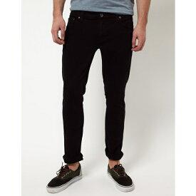 ヌーディージーンズ メンズ デニムパンツ ボトムス Nudie Long John Black Skinny Jeans Black