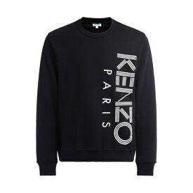 ケンゾー メンズ パーカー・スウェットシャツ アウター Kenzo Sweatshirt In Black Cotton With Kenzo Paris Embroidery In White NERO