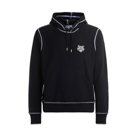 ケンゾー メンズ パーカー・スウェットシャツ アウター Kenzo Tigre Sweatshirt In Black Cotton With Hood And Front Logo NERO