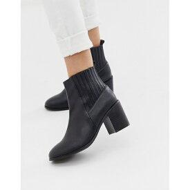 エイソス レディース ブーツ&レインブーツ シューズ ASOS DESIGN Reform chelsea ankle boots in black Black
