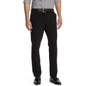 """イングリッシュランドリー メンズ カジュアルパンツ ボトムス Solid Flat Front Pants - 30-32"""" Inseam BLACK"""
