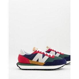 ニューバランス レディース スニーカー シューズ New Balance 237 sneakers in multi color block Navy