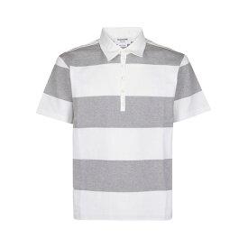トムブラウン メンズ ポロシャツ トップス Thom Browne Striped Polo Shirt -