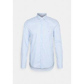 カルバン クライン テイラード メンズ シャツ トップス BOLD STRIPE SLIM - Formal shirt - light blue ephd01f7