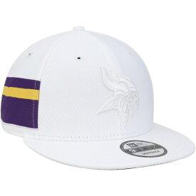 ニューエラ メンズ 帽子 アクセサリー Minnesota Vikings New Era Kickoff Color Rush 9FIFTY Adjustable Hat White
