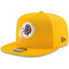 ニューエラ メンズ 帽子 アクセサリー Washington Redskins New Era 2017 Color Rush 9FIFTY Snapback Adjustable Hat Gold