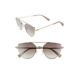 レベッカミンコフ レディース サングラス&アイウェア アクセサリー Rebecca Minkoff Stevie2 55mm Aviator Sunglasses Light Gold