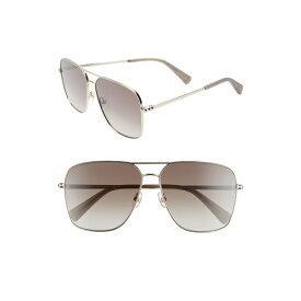 レベッカミンコフ レディース サングラス&アイウェア アクセサリー Rebecca Minkoff Stevie3 61mm Aviator Sunglasses Gold