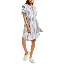 マイケルスターズ レディース ワンピース トップス Michael Stars Amelee Stripe Linen Shift Dress admiral blue and white stripe