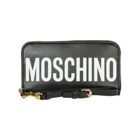 モスキーノ レディース 財布 アクセサリー Moschino Wallet Leather Coin Case Holder Purse Card Bifold -
