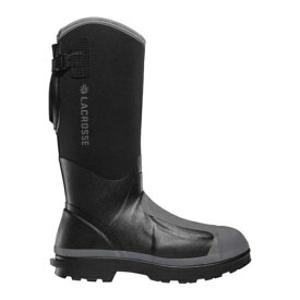 "ラクロス メンズ ブーツ&レインブーツ シューズ Alpha Range 14"" 5.0MM MET/PR/NMT Work Boot Black Neoprene/Rubber"