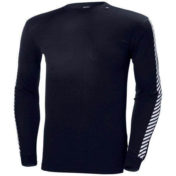 ヘリーハンセン メンズ Tシャツ トップス Helly Hansen Lifa Stripe Crew Graphite Blue