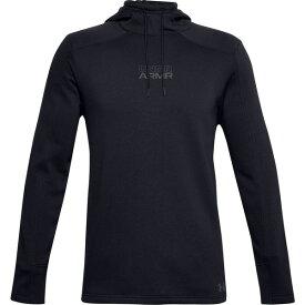 アンダーアーマー メンズ Tシャツ トップス Under Armour Men's Baseline Fleece Pullover Hoodie Black/PitchGray