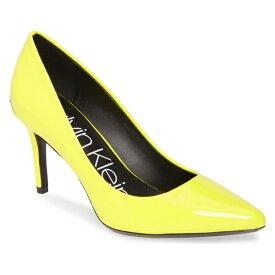カルバンクライン レディース パンプス シューズ Calvin Klein 'Gayle' Pointy Toe Pump (Women) Yellow Patent Leather