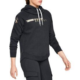 アンダーアーマー レディース パーカー・スウェットシャツ アウター Under Armour Women's Favorite Fleece Camo Logo Hoodie Black/UaBarrenCamo