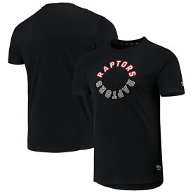 ニューエラ メンズ Tシャツ トップス Toronto Raptors New Era Brushed Jersey Wordmark Reflection Applique T-Shirt Black