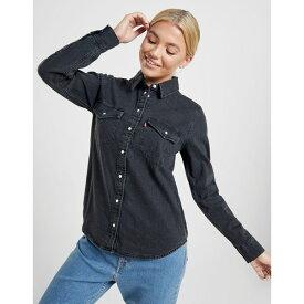 リーバイス レディース Tシャツ トップス Levis Denim Shirt black