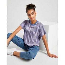 リーバイス レディース Tシャツ トップス Levis Varsity Stripe T-Shirt blue