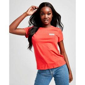 リーバイス レディース Tシャツ トップス Levis Chest Graphic Perfect T-Shirt red