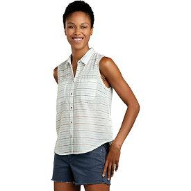 トードアンドコー レディース カットソー トップス Toad & Co Women's Airbrush SL Deco Shirt Egret Stripe