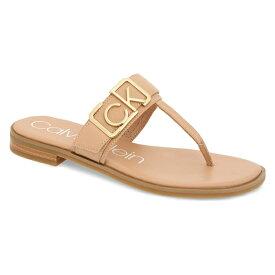 カルバンクライン レディース サンダル シューズ Calvin Klein Tamura Flip Flop (Women) Desert Sand Leather