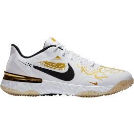 ナイキ メンズ 野球 スポーツ Nike Alpha Huarache Elite 3 Premium Turf Baseball Cleats White/Gold