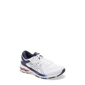アシックス レディース スニーカー シューズ GEL-Kayano 26 Running Shoe WHITE/PEACOAT