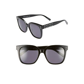 レベッカミンコフ レディース サングラス&アイウェア アクセサリー Rebecca Minkoff Cyndi 54mm Studded Sunglasses Black
