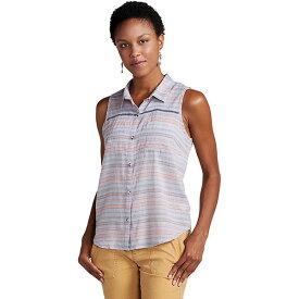 トードアンドコー レディース カットソー トップス Toad & Co Women's Airbrush SL Deco Shirt Lilac Stripe
