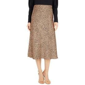 ジェイクルー レディース スカート ボトムス Pull-On Slip Skirt in Wild Cheetah Camel/Black