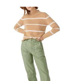 ジェイクルー レディース ニット&セーター アウター Stripe Cashmere Mock Neck Sweater Heather/Camel/Snow
