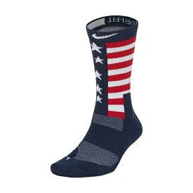ナイキ メンズ 靴下 アンダーウェア Elite Energy RWB Crew Socks Midnight Navy/University Red/White