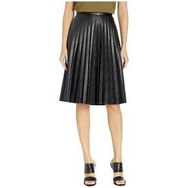 ジェイクルー レディース スカート ボトムス Faux-Leather Pleated Midi Skirt Black