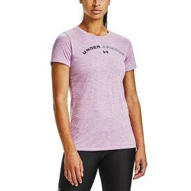 アンダーアーマー レディース カットソー トップス Women's UA Tech Training Top Polar Purple / Crystal Lilac / Black