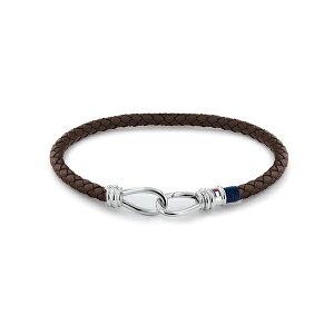 トミー ヒルフィガー メンズ ブレスレット・バングル・アンクレット アクセサリー Men's Bracelet Medium Brown